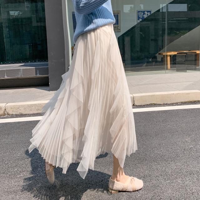 【ボトムス】おしゃれ度アップ!カジュアル スウィート ハイウエスト Aライン 柔らかくて優しい印象 スカート52900526