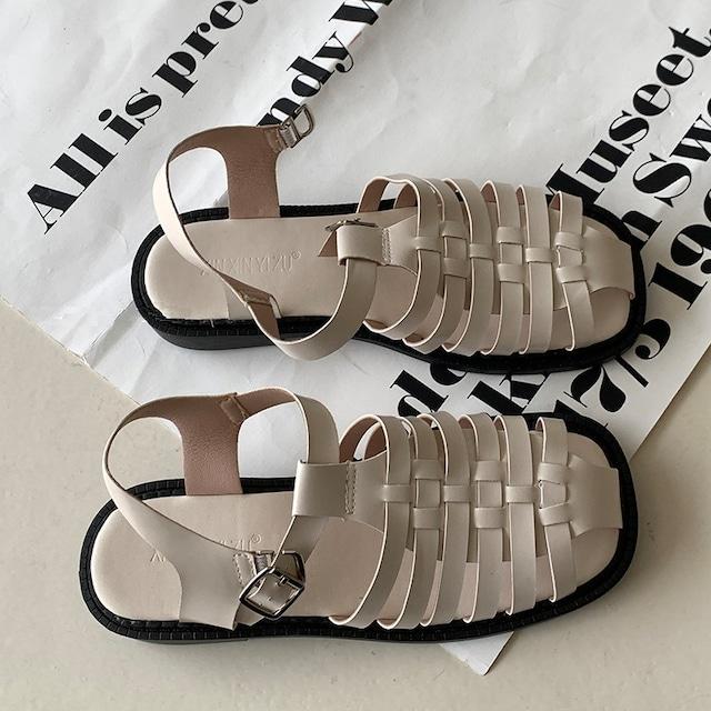 Square weaving sandal(スクエアウィービングサンダル) b-184