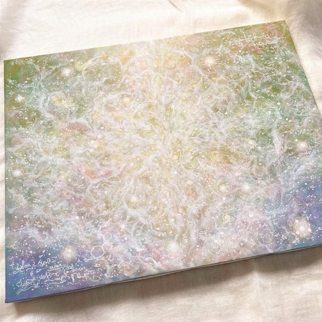 ヒーリングアート『わたしたちを繋ぐ愛の素』抽象絵画