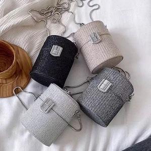 Bag♡ミニグリッターチェーンバッグ 4colors