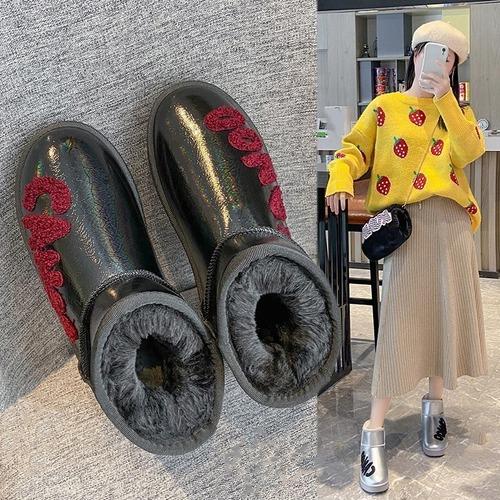 ファーブーツ ムートンブーツ 防寒 23.0〜25.0cm 韓国ファッション レディース ファー ブーツ もこもこ 632006619048