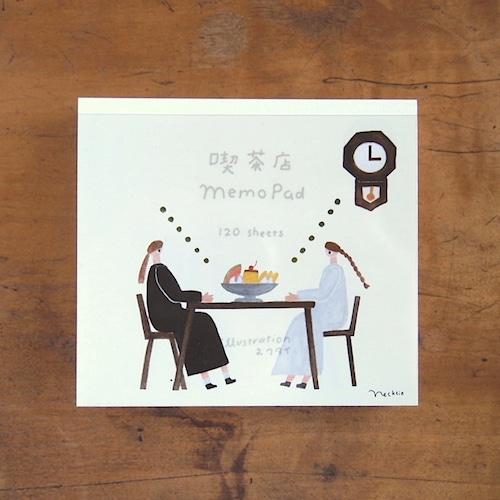 【ネクタイ】ブロックメモ「喫茶店 Memo Pad」