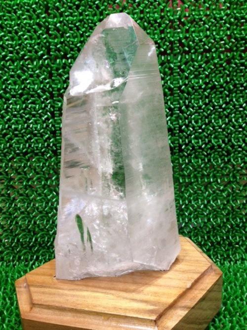 27) 採掘初期オリジナル鉱山レムリアンシード レコードキーパー(台座付き) 1270g 200mm