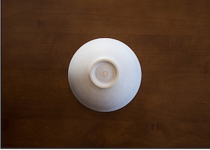 白マット 釉飯碗 茶碗/石塚操