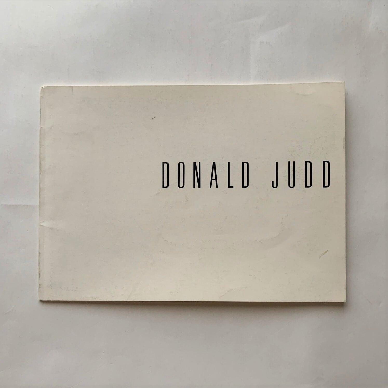 DONALD JUDD展  /  ギャラリー・ヤマグチ展覧会カタログ