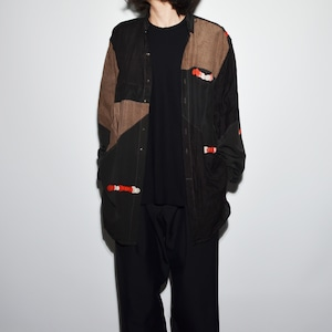 "Crazy Pattern ""NIPPON SILK"" Shirt Coat 〈A〉"