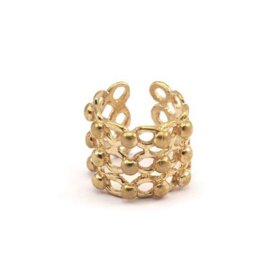 Raw brass Rings -  tsubuリング RG-026