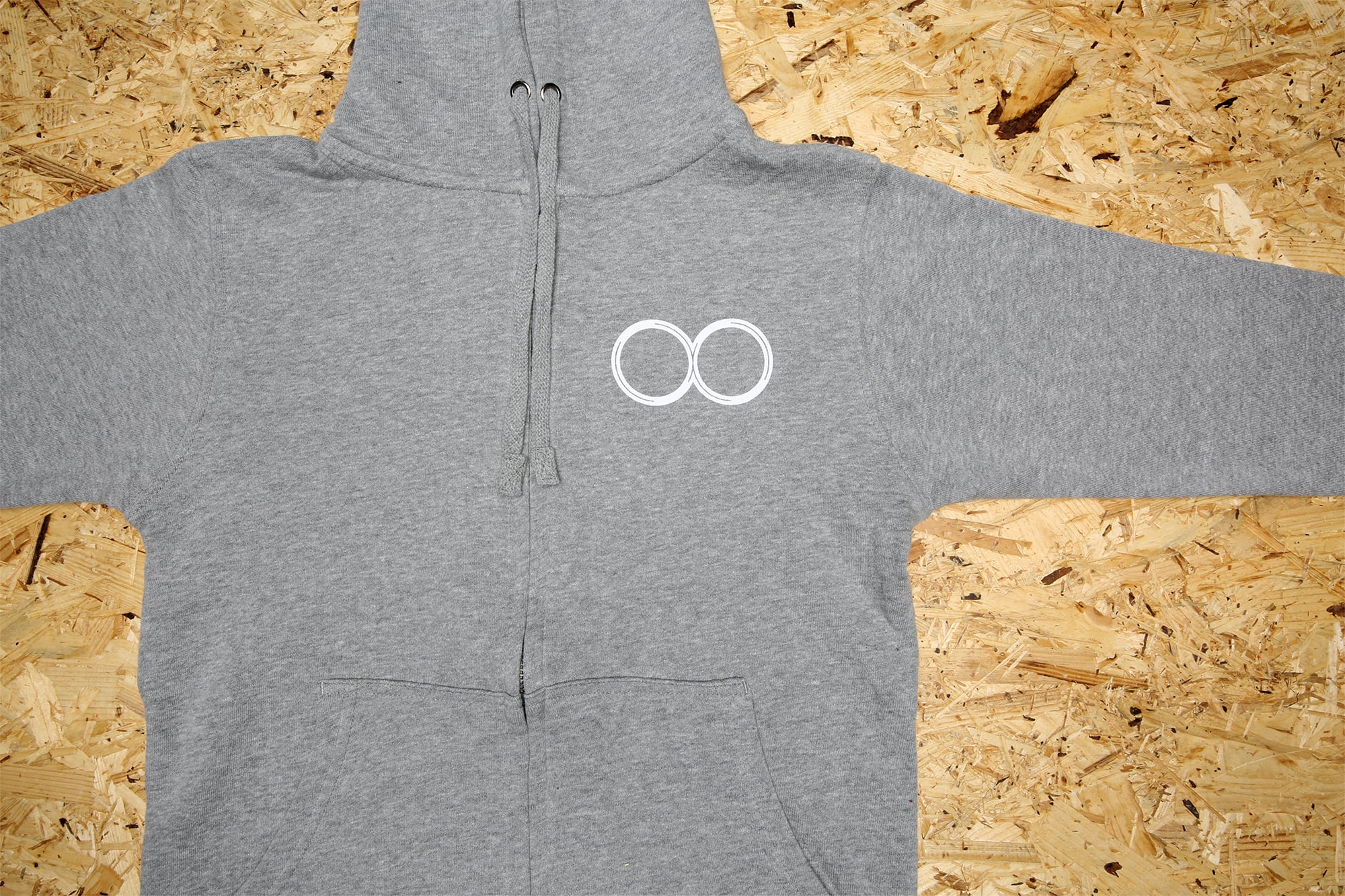 Icon Zip-up hoodie Gray / アイコン・フーディ