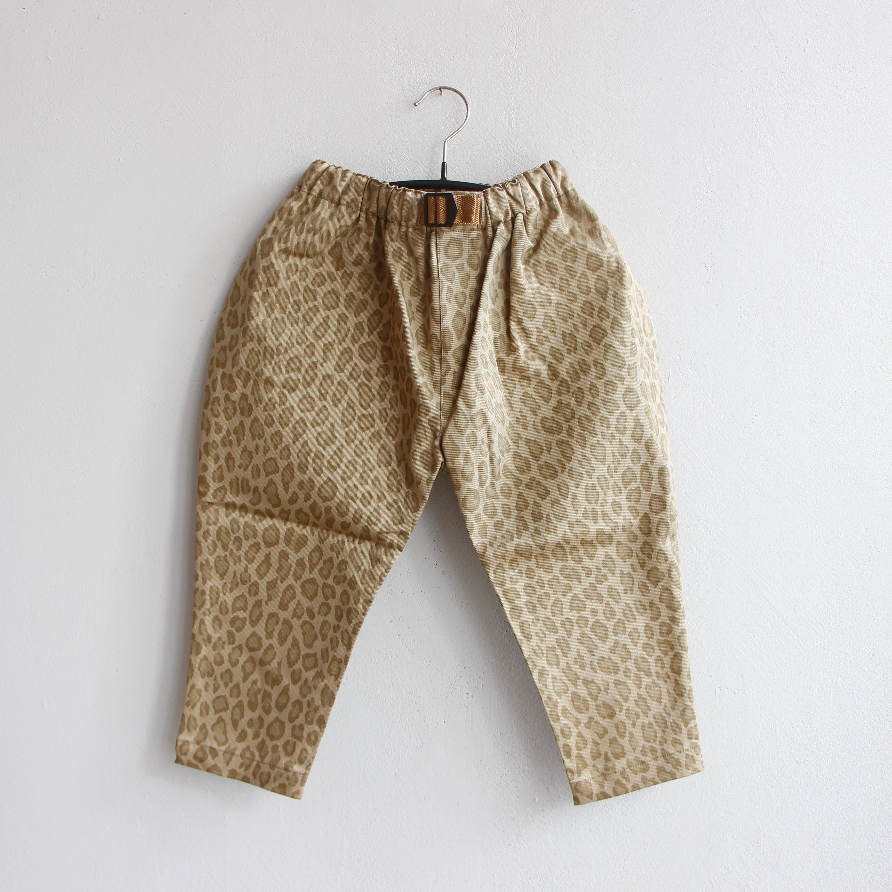 《eLfinFolk 2021AW》Snow leopard  pants / beige / 140-150cm