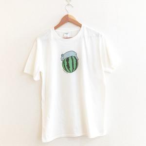うさぎとすいかTシャツ