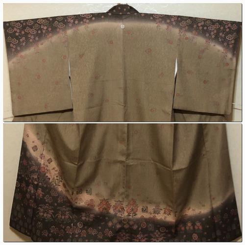 ★美品 訪問着 鳥 巾あり トール 裄66.5 一つ紋 ★ 2342