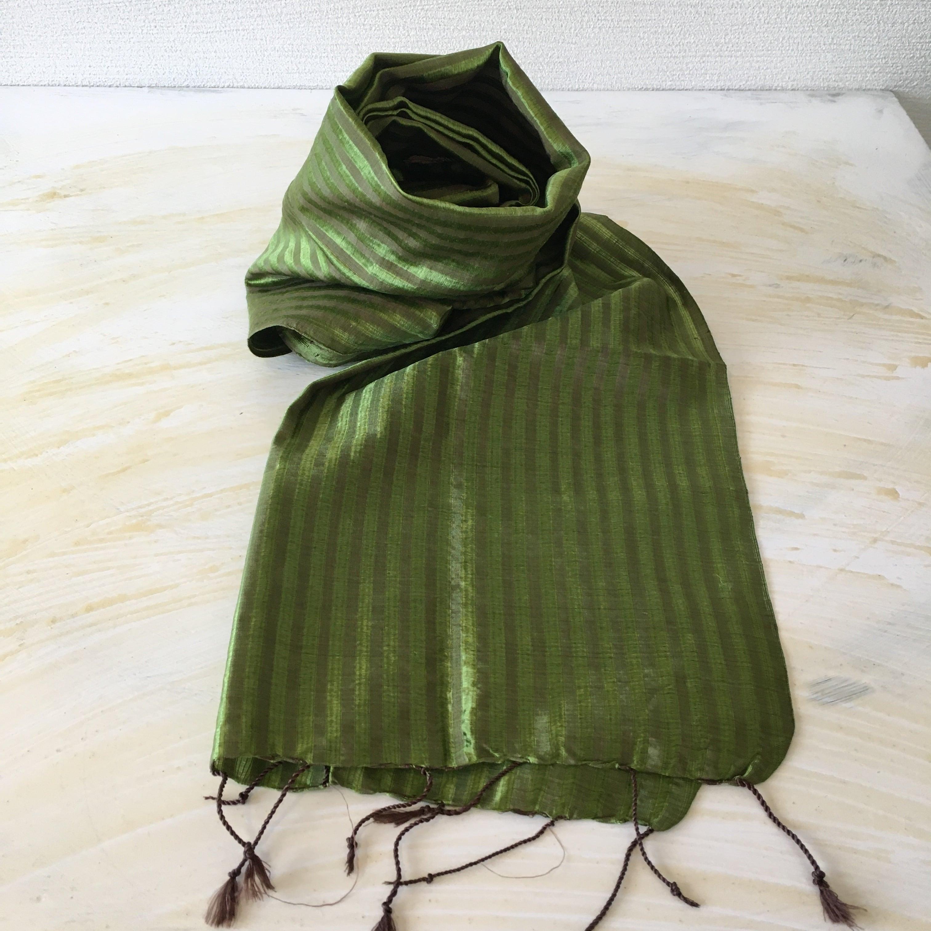 グリーン カンボジアシルクショール