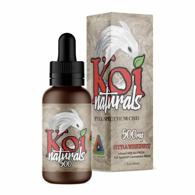 『舌下で摂取』Koi Naturals CBDオイル Strawberry味 30ml / 500mgCBD 【Koi CBD】