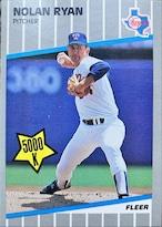 MLBカード 89FLEER Nolan Ryan #U-67 RANGERS