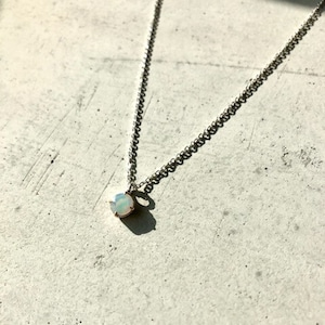 【3OMPSV】『One off』 opal round cut pendant
