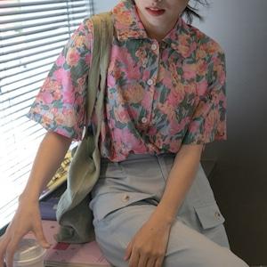 Summer flower  shirt(サマーフラワーシャツ)b-240