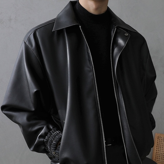 Casual tide leather jacket   b-474