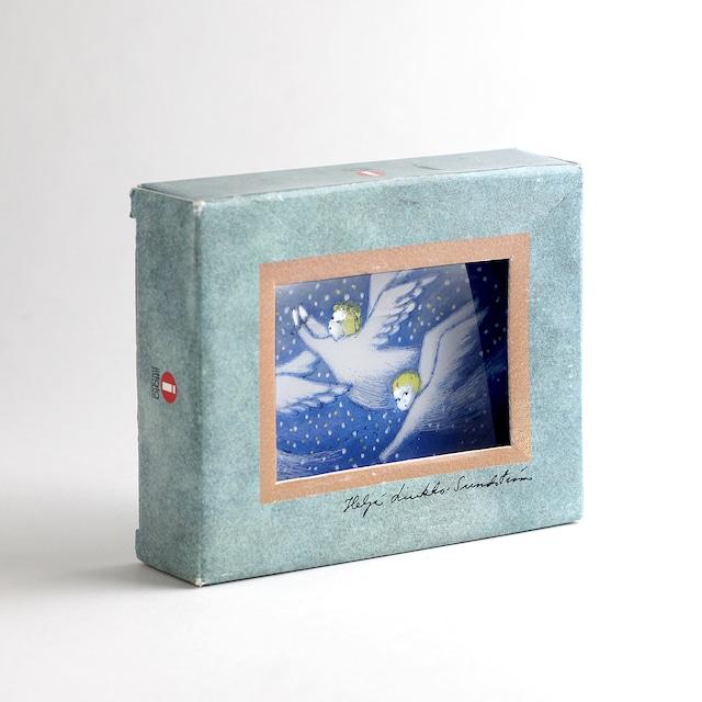 Iittala イッタラ Helja Liukko-Sundstrom ヘルヤ リウッコ スンドストロム 3人の天使 ガラスカード(オリジナルBOX付) 北欧ヴィンテージ