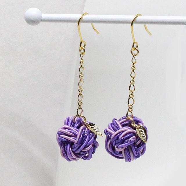 魅惑の香り紫りんご ピアス/イヤリング