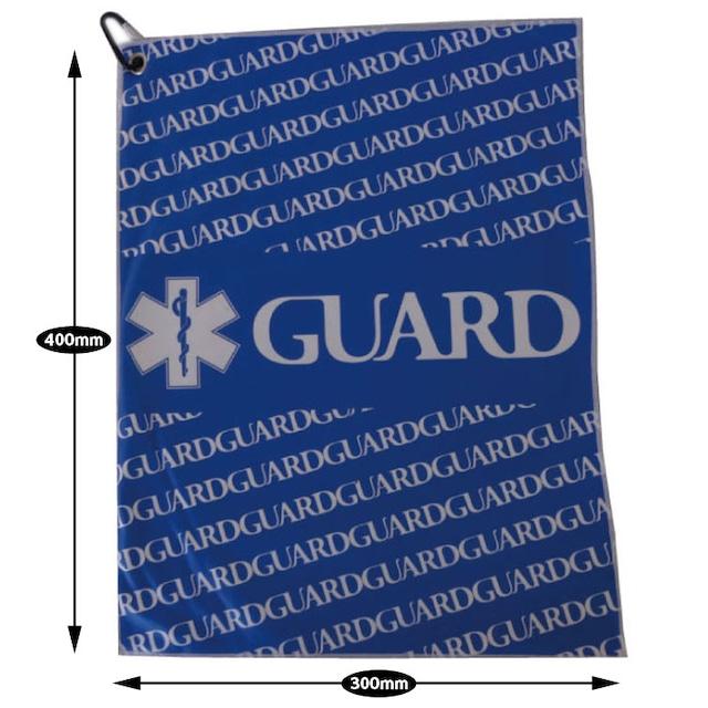GUARD ガード ダブルレイヤーマイクロファイバータオル カラビナ付き スポーツや液晶画面などのお掃除用にも最適 wlayer