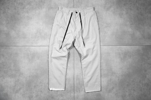 ASKYY / LAYERED ANKLE EASY PANTS / ASH GREY