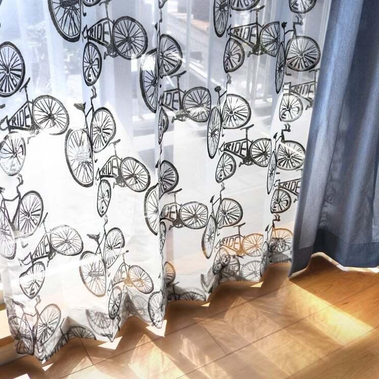 【最短6営業日で出荷】オパールレースカーテン「Carter カーター ブラック」 (幅×丈):100×198cm(2枚組) ac-0074