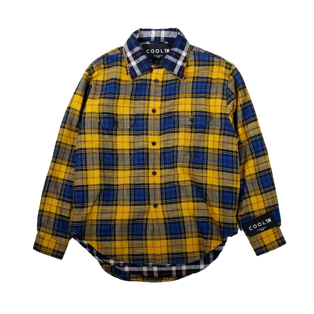 COOL TM Reversible Over size Check Shirt