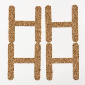 切り文字 A&Cペーパー コルク 粘着付 アルファベット「H」