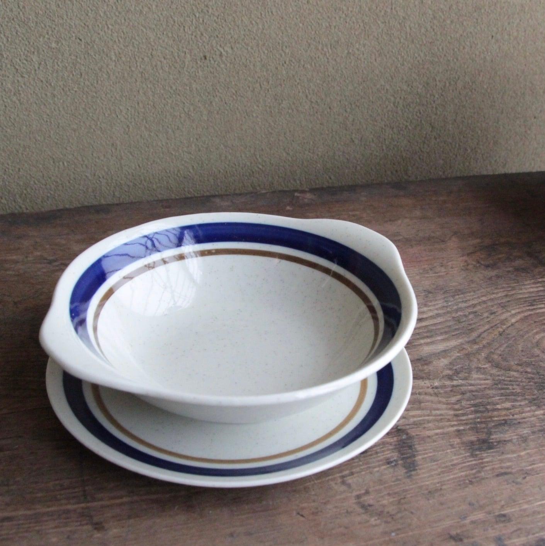レトロなスープ皿セット 在庫2セット