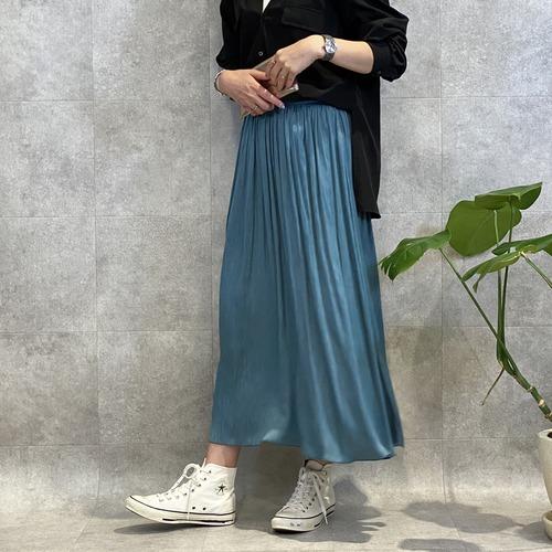 trois/トロア ブランビジューギャザーロングスカート T216-86001