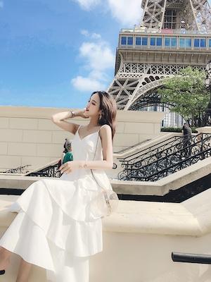♡4colorフリルマキシワンピース