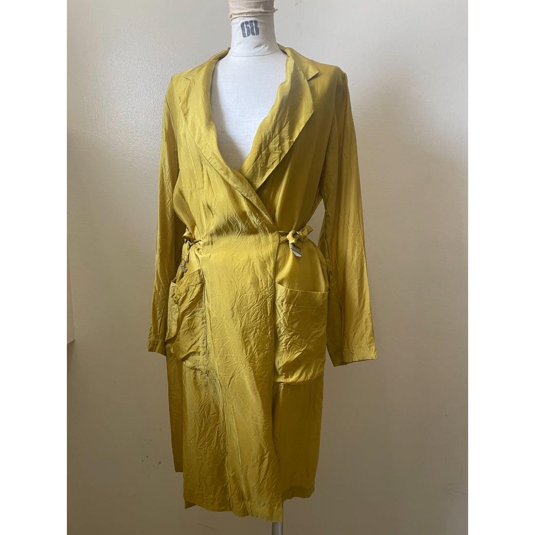 【hippiness】cupro coat(mustard)/【ヒッピネス】キュプラ コート(マスタード)