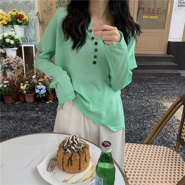 デザインスリーブの長袖Tシャツ 7色 【TR0807】