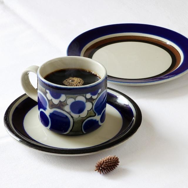 ARABIA アラビア Saara サーラ コーヒーカップ&ソーサー、プレート 三点セット - 1 北欧ヴィンテージ
