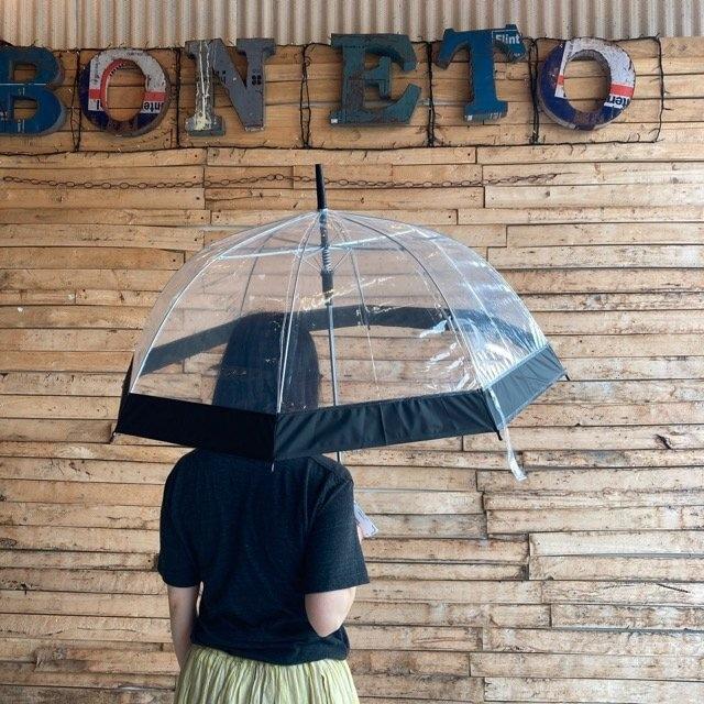 TOPANGA FASHION クリアドーム傘 ブラック