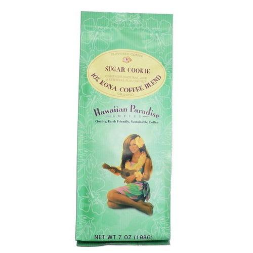 シュガークッキー(挽き済みの粉) ハワイアンパラダイス(7oz 198g) ハワイコナコーヒー フレーバーコーヒー