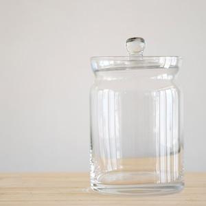 【ガラス容器】ガラスキャニスターロング(直径80xh115mm)