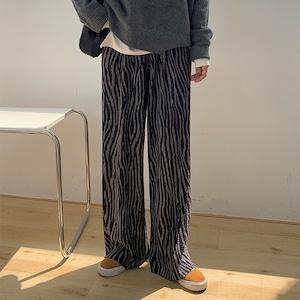 Corduroy zebra  pleats pants(コーデュロイゼブラプリーツパンツ)a-850