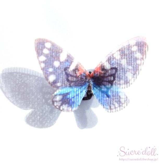 [無限-藍-] 胡蝶の夢 ヘアクリップ