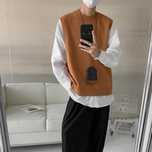 Layered design pullover shirt   b-515