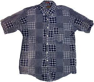 CLEVE 半袖 パッチワーク シャツ 【M】 | ヴィンテージ 古着