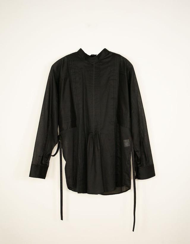 PIN TUCK SHIRT / BLACK