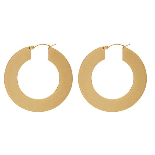 Flat hoop pierce ピアス