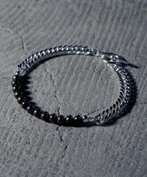 Y2104HKB0708【YArKA/ヤーカ】pearl & kihei chain bracelet/[plb]/パール&シルバーチェーンブレスレット silver925