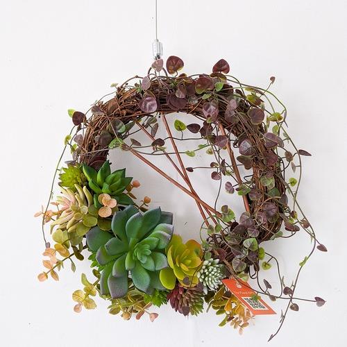 アートフラワーギフト!『フラワーリース』多肉植物