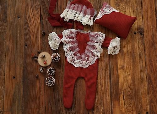 愛されクリスマスカラーの女の子衣装3点セット/2カラー
