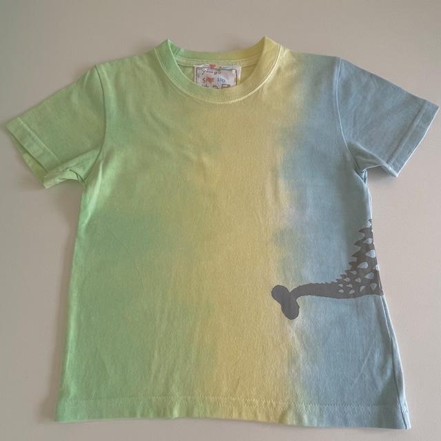 kidsTシャツ120cm「アンキロサウルス 段染め縦」120-210918-2