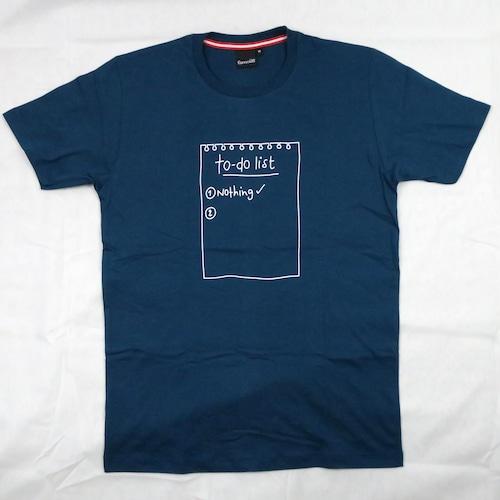 今日の予定は何もない!「to-do list」Tシャツ