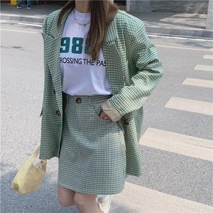 ロゴTシャツ+スカートセットアップ
