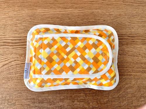 布製ウェットシートケース・オレンジモザイク
